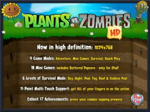 plants vs zombies HD 1 300x225 Plants vs Zombies HD Delivers Addictive Gameplay