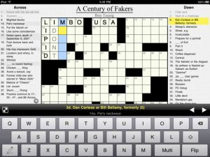 crosswords 1 300x225 Crosswords for iPad is the Killer App for Puzzle Solvers