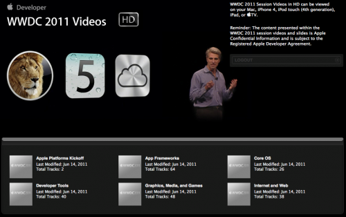 wwdc2011videos1 Apple Releases WWDC 2011 Video Content on iTunes