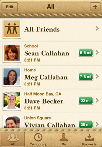 Find friends app location wrong