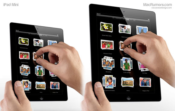 iPad Mini comparison Apple iPad Mini Slated For Late 2012 Release?