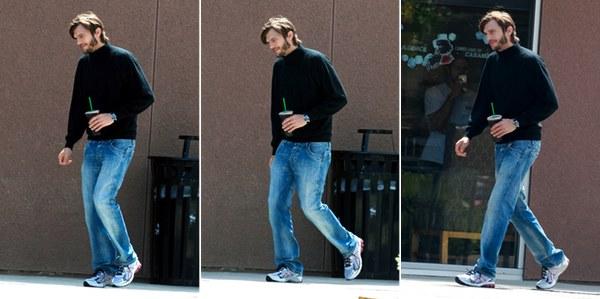 Spy pics of Ashton Kutcher dressed as Steve Jobs