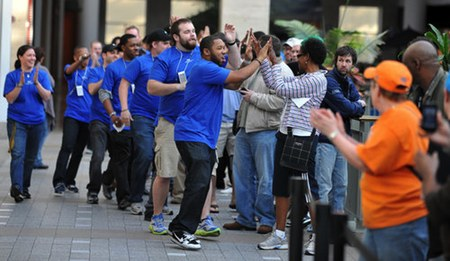 rumors indicate apple will hold all hands on desk meetings for apple store workers on sunday, june 24.