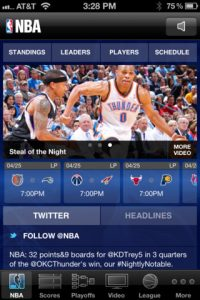 nba game time 1 200x300 Best iPhone Apps For The NBA Finals
