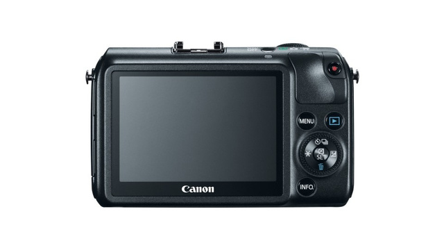 Canon EOS M Rear in Black