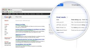 Gmail in Google Search Results