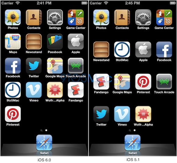 iPhone Display on iOS 6 Fits Five Rows of Apps