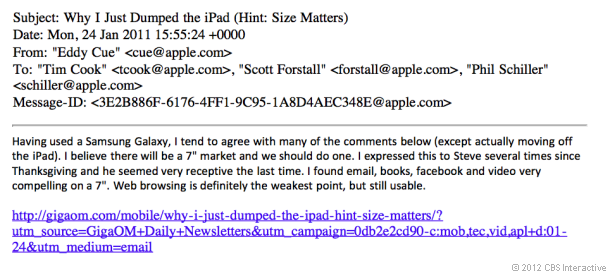 iPad Mini Email Thread