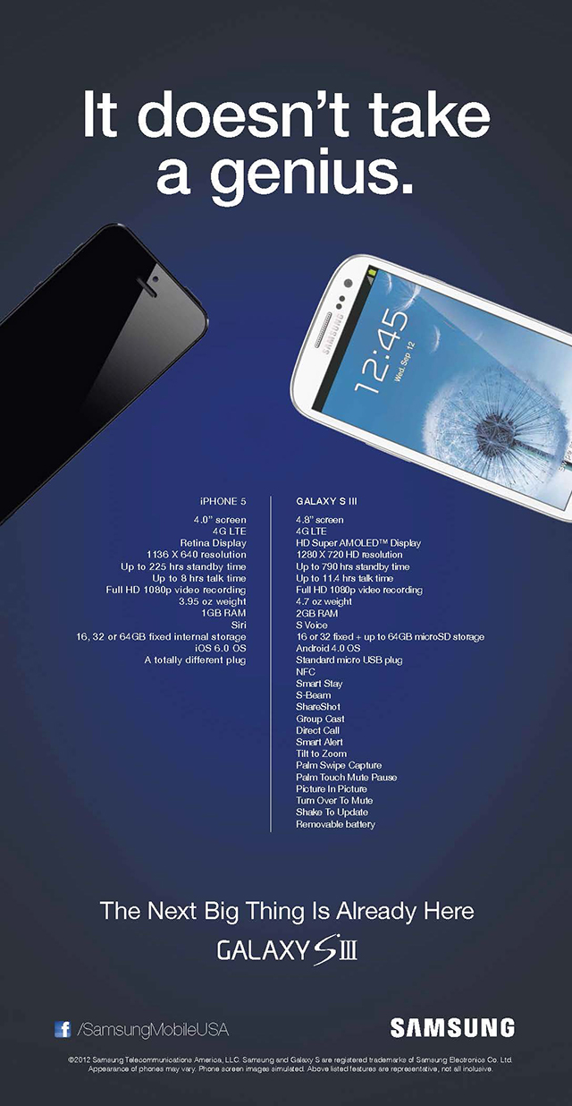 iPhone 5 Samsung Ad