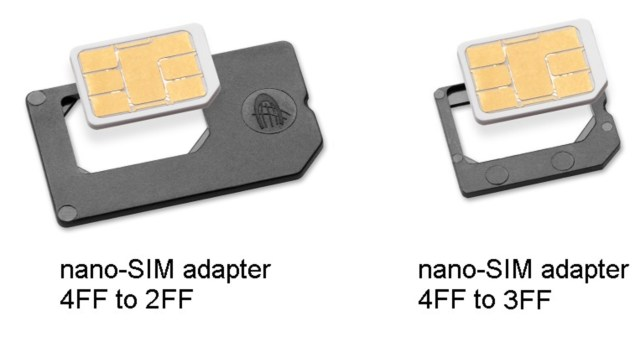 iPhone 5 nano sim adapters