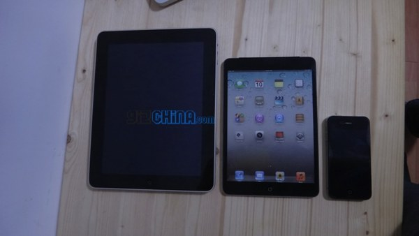 Whereas the pics apparently show a 3G or 4G model, the iPad mini video shows a wi-fi only mockup…