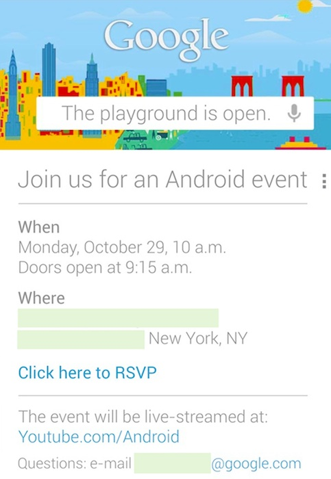 LG Optimus G Nexus Launch Google Invite