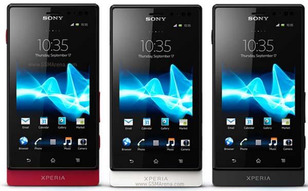 Sony Xperia Sola Android 4.0 ICS