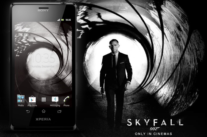 Sony Xperia T Skyfall James Bond
