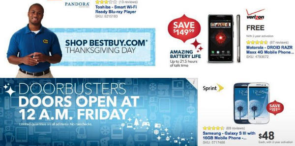 Best Buy Black Friday 2012 plans leaked, great deals for Samsung Galaxy S3 and other Android devices