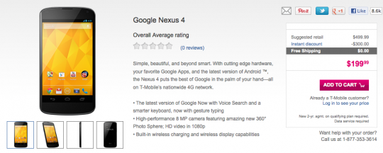Google Nexus 4 T-Mobile