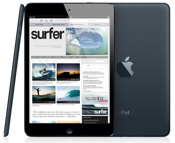 iPad mini three up front back profile black iPad Mini LTE is a few days away
