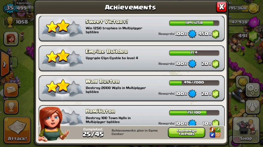 Earn Clash of Clans gems