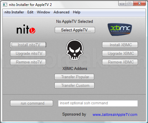 nito installer Nito Installer available for Windows to install XBMC on Jailbroken Apple TV 2