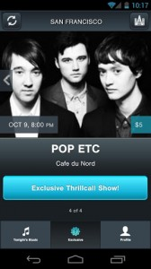 thrillcall1 168x300 Thrillcall Live Music Android App Review