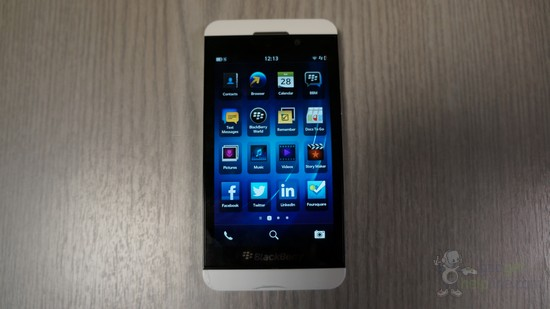 White BlackBerry Z10 snapped days before release