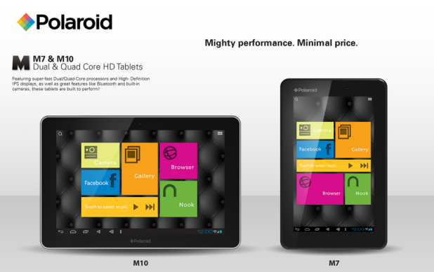 CES 2013: Polaroid release Nexus 7 & 10 competitors
