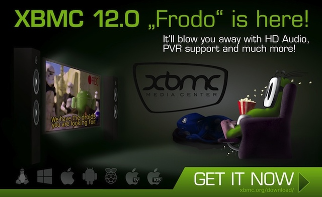 xbmc frodo XBMC 12 Frodo adding Android and Raspberry Pi support now available
