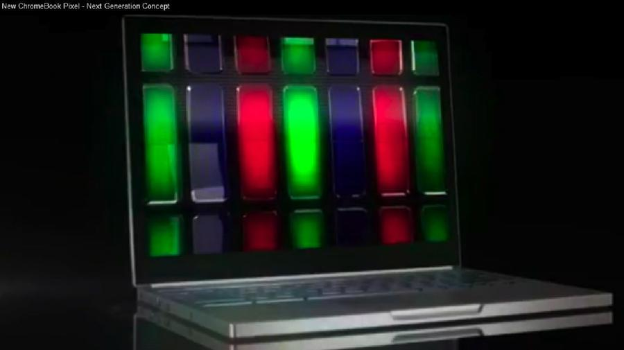 Touchscreen Chromebook Pixel leaked on video