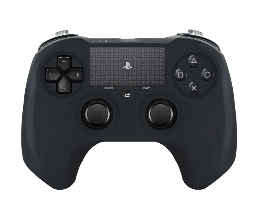 Playstation 4 controller mockup3 Gamers draw some PlayStation 4 controller concept art