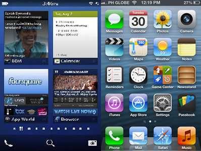 herp BlackBerry Z10 vs iPhone 5
