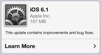 iOS 6.1features
