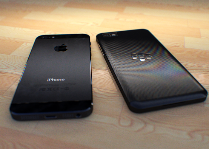 Z10 vs iPhone 5