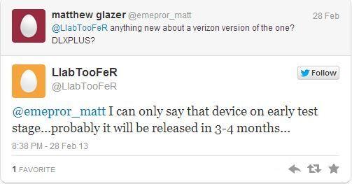 HTC One Verizon Release Date Rumor