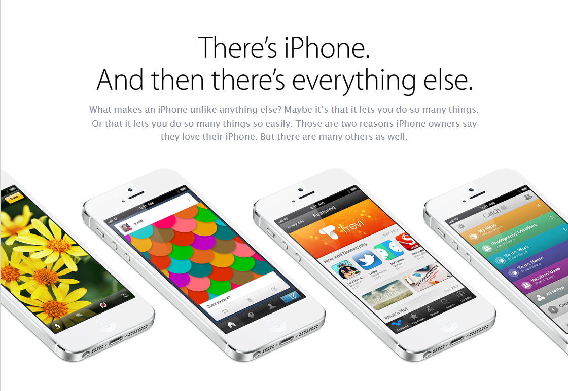 apple iphone 5 webpage