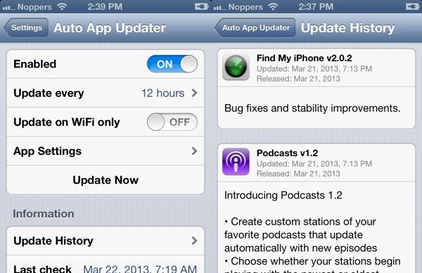auto app updater1 Auto update iOS Apps with this Cydia Tweak