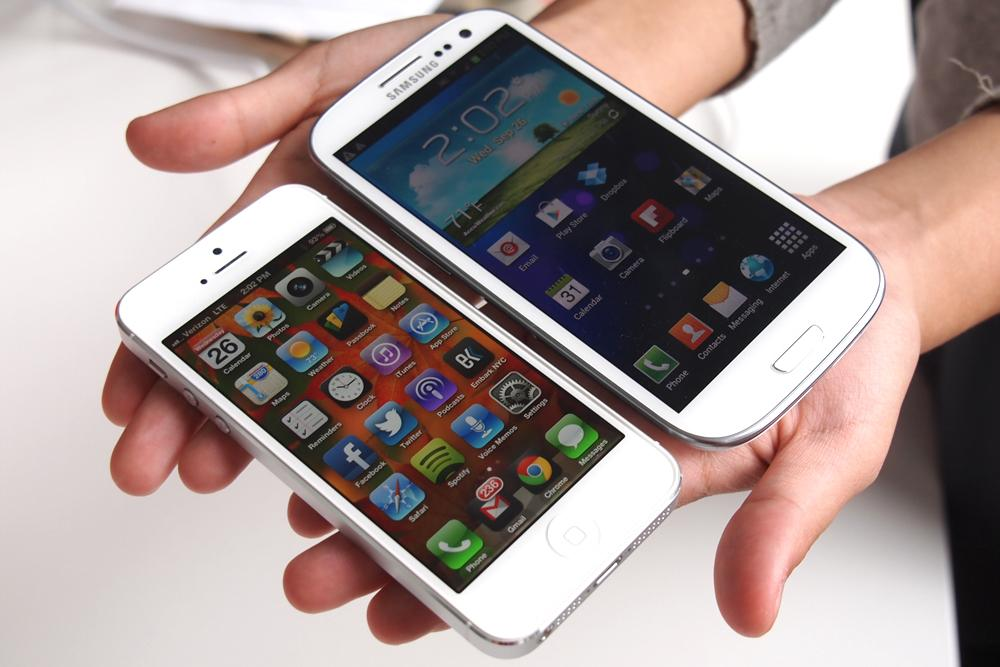 Samsung Galaxy S4 vs iPhone 5