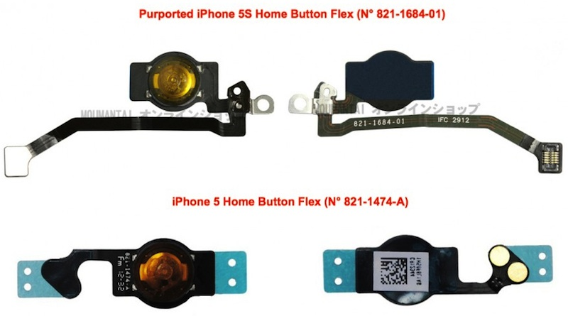 iPhone 5S parts leak