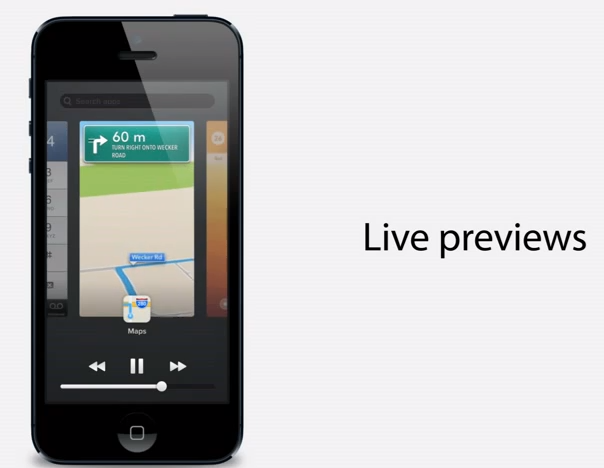 live previews taskswitcher ios7 iPhone 6 and iOS 7 Concepts looking impressive