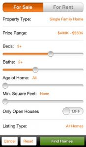 HomeFinder.com Real Estate Search iphone app