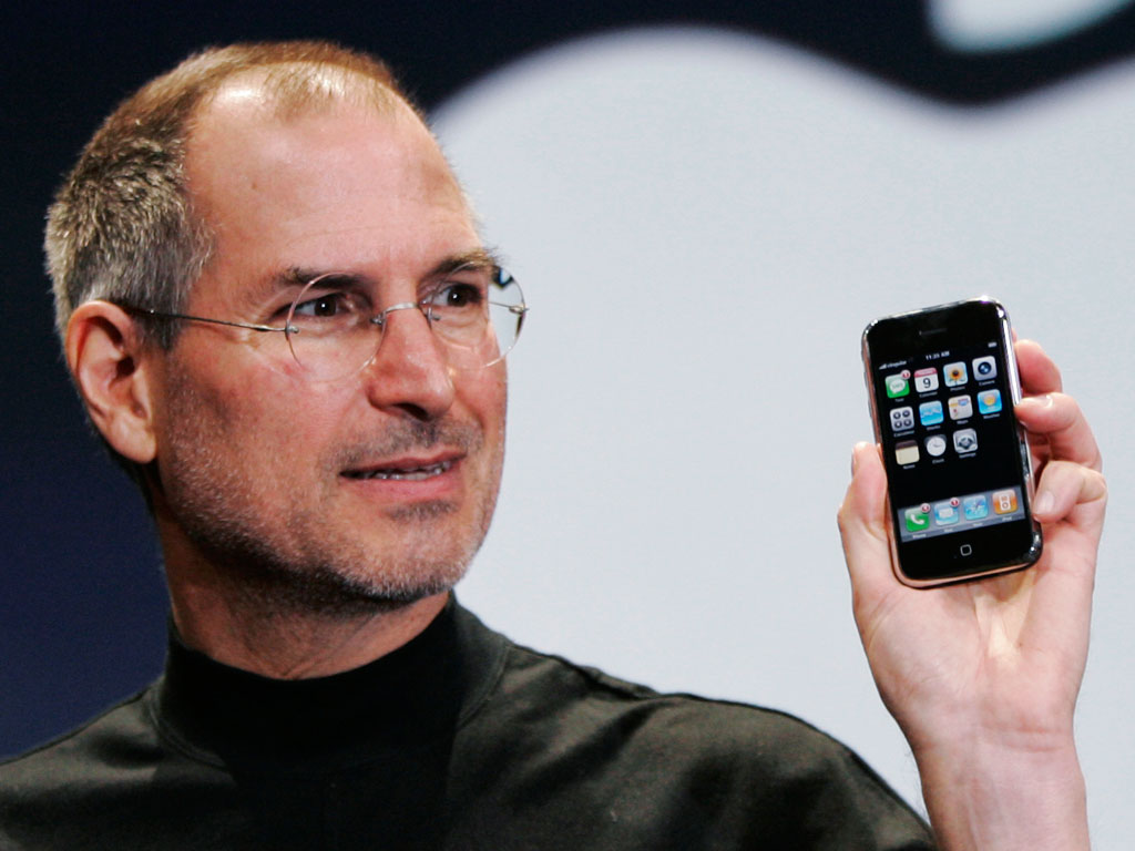 steve jobs holding iphone What the iPhone could have been called