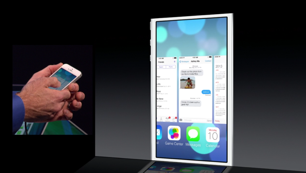 iOS 7 is under the influence in Multitasking