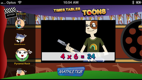 Times Tables Toons iPhone App Review: Learn Multiplication!