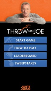 Throw With Joe iPhone Game
