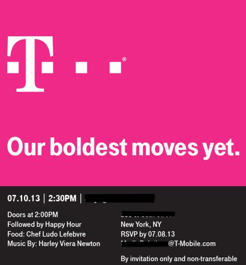 T-Mobile Press Invite