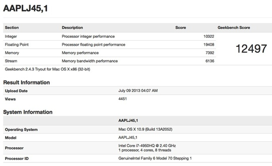 haswell macbook pro benchmark Haswell MacBook Pro Benchmarked, Fanbois Tremble
