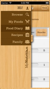 My Nutrition iPhone App