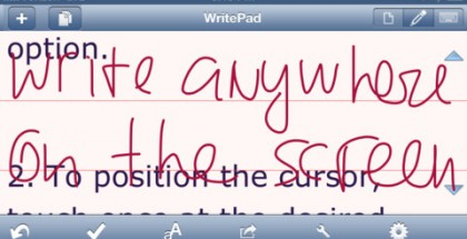 WritePad iPhone App