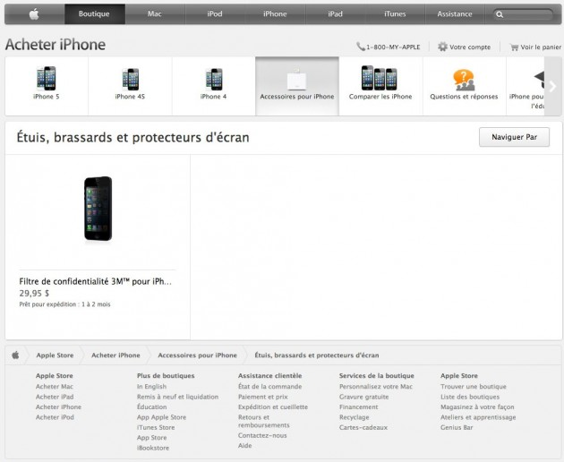 iPhone 5S Canada French leak 630x516 iPhone 5S Revealed on Apples Hungarian Site