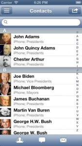 A2Z Contacts iPhone App