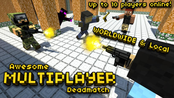 Pixel Gun 3D iPhone Game Review: Killer Battles, Awesome Skins